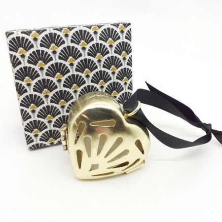 Fève Tonka Small Gold Scented Heart
