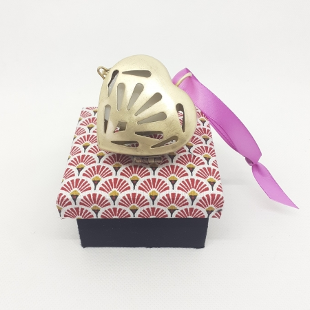 Violette d'amour Small Gold Scented Heart