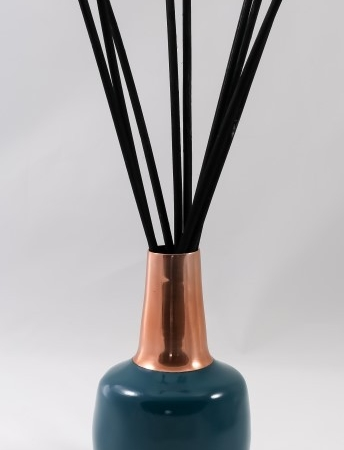 Blue and Copper Vase for Scented Bouquet