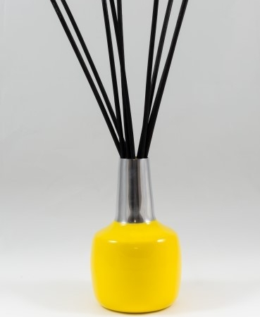 Yellow and Silver Vase for Scented Bouquet